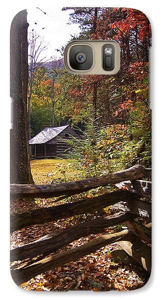 Galaxy Case featuring the photograph Smoky Mountain Log Cabin by Bob Decker