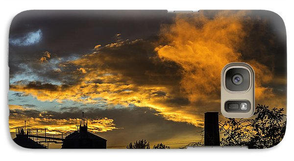 Galaxy Case featuring the photograph Smoky Sunset by Jeremy Lavender Photography
