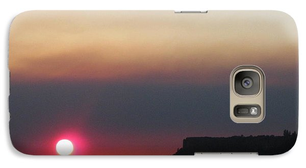 Galaxy Case featuring the photograph Smoky Sunset Near Table Rock by Marie Neder
