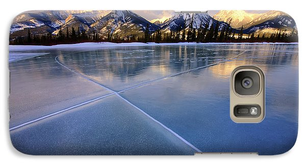 Galaxy Case featuring the photograph Smooth Ice by Dan Jurak