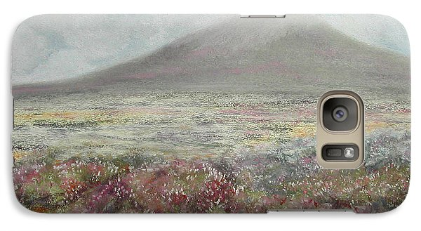 Galaxy Case featuring the painting Snaefell Heather by Stanza Widen