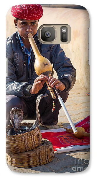 Snake Charmer Galaxy S7 Case by Inge Johnsson