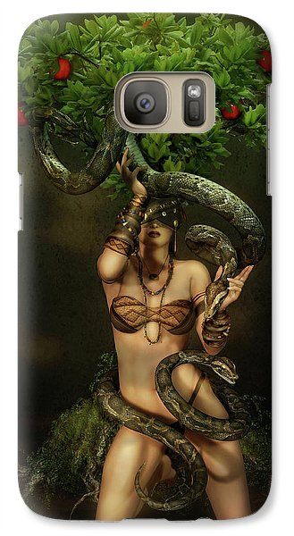 Snake Charmer Galaxy Case by Shanina Conway