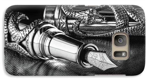 Snake Pen In Black And White Galaxy S7 Case