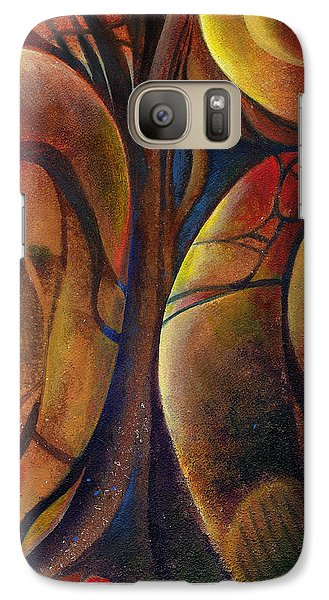 Galaxy Case featuring the painting Snakes And Snails by Andrew King