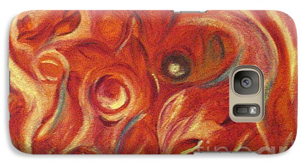 Galaxy Case featuring the painting Snapy by Fanny Diaz