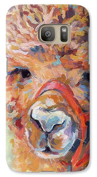 Llama Galaxy S7 Case - Snickers by Kimberly Santini