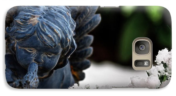 Galaxy Case featuring the photograph Snow Angel Whisperer by Shelley Neff