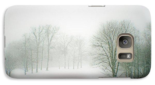 Galaxy Case featuring the photograph Snow Bridge by Polly Peacock