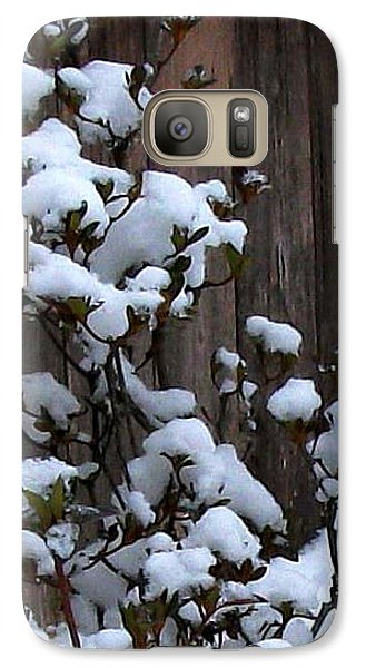 Galaxy Case featuring the photograph Snow Bush Abstract by Skyler Tipton
