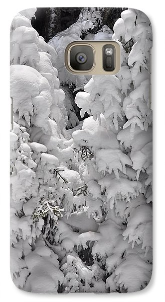 Galaxy Case featuring the photograph Snow Coat by Alex Grichenko