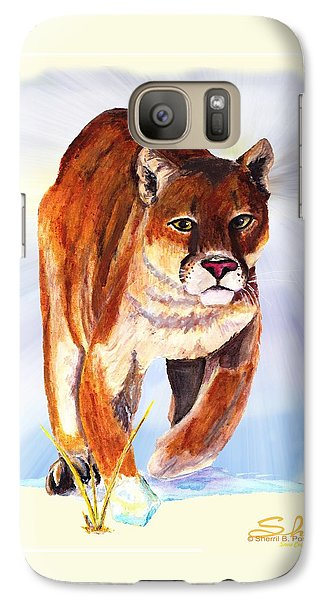 Galaxy Case featuring the painting Snow Cougar by Sherril Porter