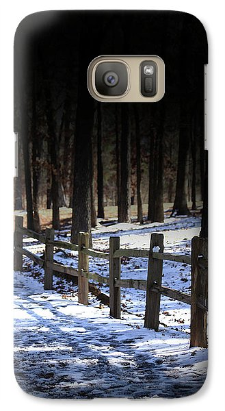 Galaxy Case featuring the digital art Snow Covered Bridge by Kim Henderson