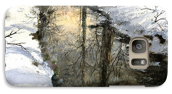 Galaxy Case featuring the painting Snow Creek by Andrew King