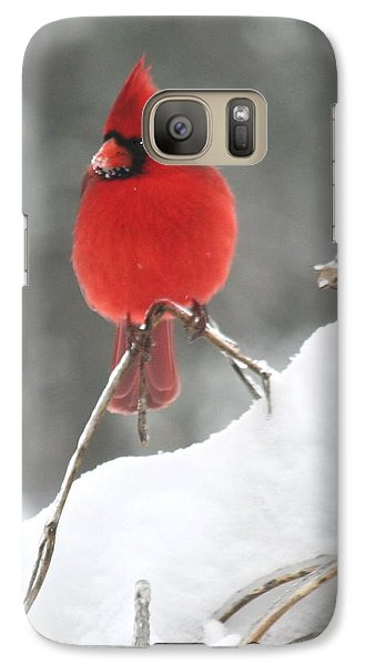 Galaxy Case featuring the photograph Snow Day by Diane Merkle