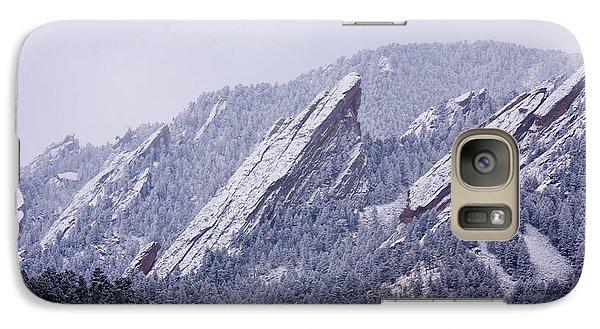 Snow Dusted Flatirons Boulder Colorado Galaxy S7 Case