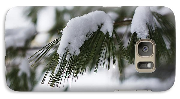 Galaxy Case featuring the photograph Snow Falling On The White Pines by Andrew Pacheco