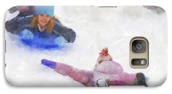 Galaxy Case featuring the digital art Snow Fun by Francesa Miller