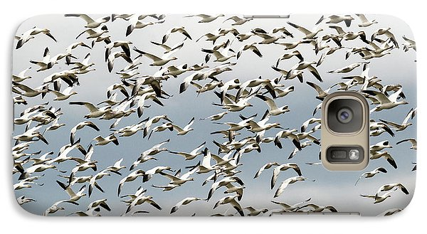 Galaxy Case featuring the photograph Snow Goose Storm by Mike Dawson