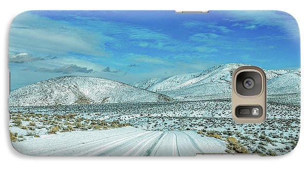 Galaxy Case featuring the photograph Snow In Death Valley by Peter Tellone