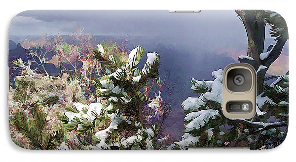 Galaxy Case featuring the photograph Snow In The Canyon by Roberta Byram