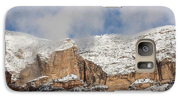 Galaxy Case featuring the photograph Snow Kissed Morning In Sedona, Az by Sandra Bronstein