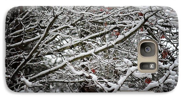Galaxy Case featuring the photograph Snow Laden Trees by Greg Simmons
