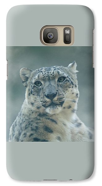 Galaxy Case featuring the photograph Snow Leopard Portrait by Sandy Keeton