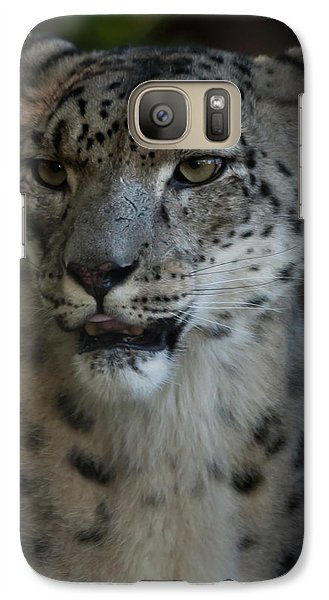 Galaxy Case featuring the photograph Snow Leopard by Roger Mullenhour