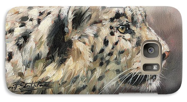 Galaxy Case featuring the painting Snow Leopard Study by David Stribbling