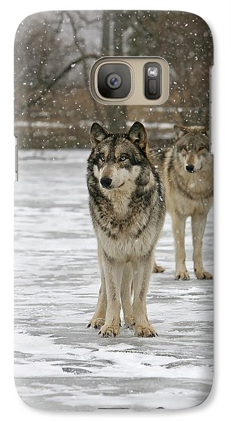 Galaxy Case featuring the photograph Snow Mates by Shari Jardina