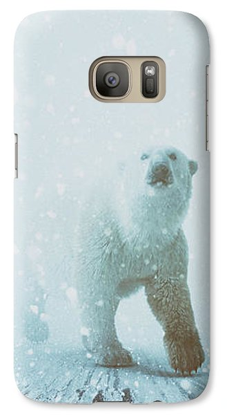 Bear Galaxy S7 Case - Snow Patrol by Katherine Smit