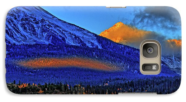 Galaxy Case featuring the photograph Snow Peak Fall by Scott Mahon