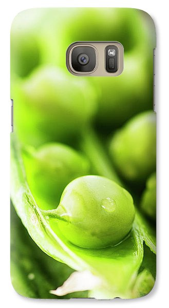 Snow Peas Or Green Peas Seeds Galaxy Case by Vishwanath Bhat