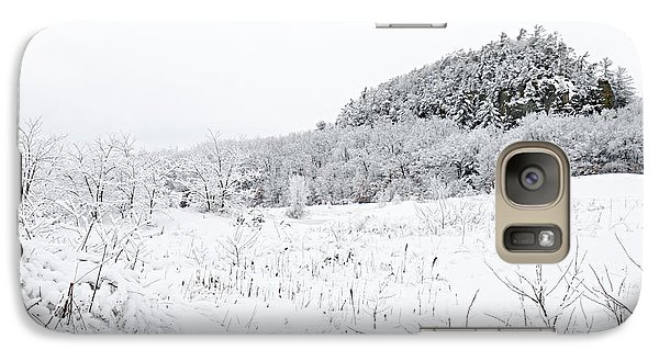Galaxy Case featuring the photograph Snow Scene by Larry Ricker