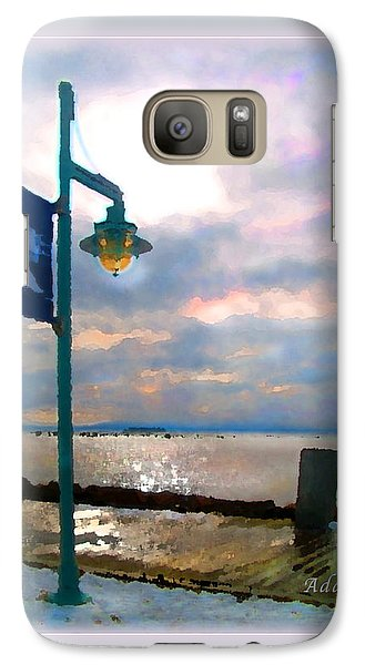 Galaxy Case featuring the photograph Snow Waterfront Park Walk by Felipe Adan Lerma