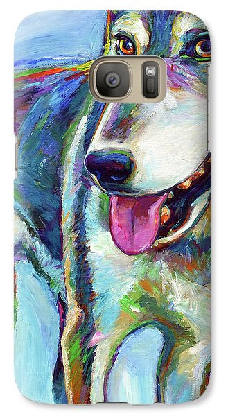 Galaxy Case featuring the painting Snow Wolf by Robert Phelps
