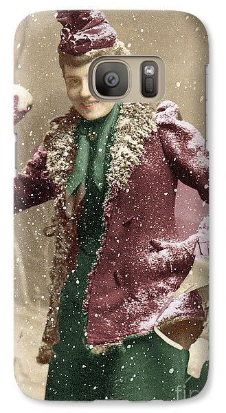 Galaxy Case featuring the photograph Snowball Fight by Lyric Lucas
