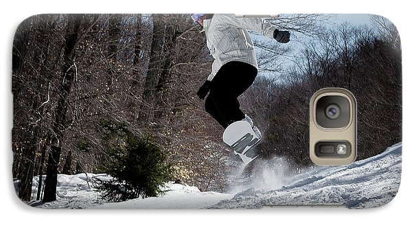Galaxy Case featuring the photograph Snowboarding Mccauley Mountain by David Patterson