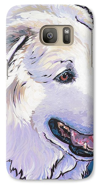 Galaxy Case featuring the painting Snowdoggie by Nadi Spencer