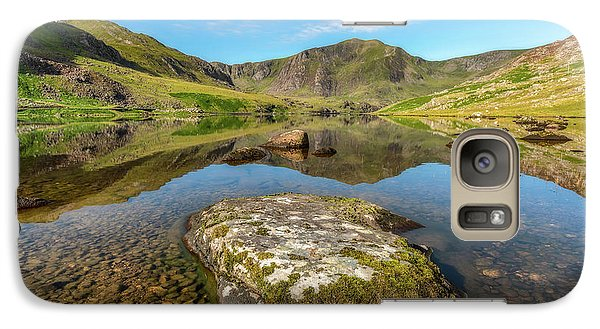 Galaxy Case featuring the photograph Snowdonia Mountain Reflections by Adrian Evans