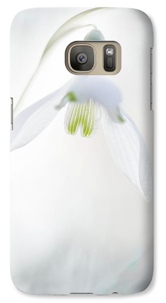 Galaxy Case featuring the photograph Snowdrop A Fragile Hint Of Spring by Dirk Ercken