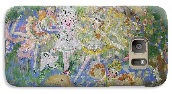 Galaxy Case featuring the painting Snowdrop The Fairy And Friends by Judith Desrosiers