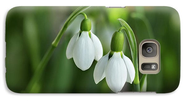 Galaxy Case featuring the photograph Snowdrops by Mary Jo Allen