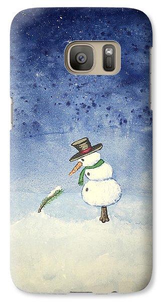 Galaxy Case featuring the painting Snowfall by Antonio Romero