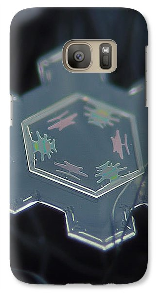 Galaxy Case featuring the photograph Snowflake Photo - Icy Rainbow by Alexey Kljatov