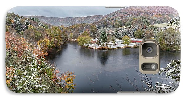 Galaxy Case featuring the photograph Snowliage by Bill Wakeley