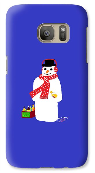 Galaxy Case featuring the digital art Snowman by Barbara Moignard
