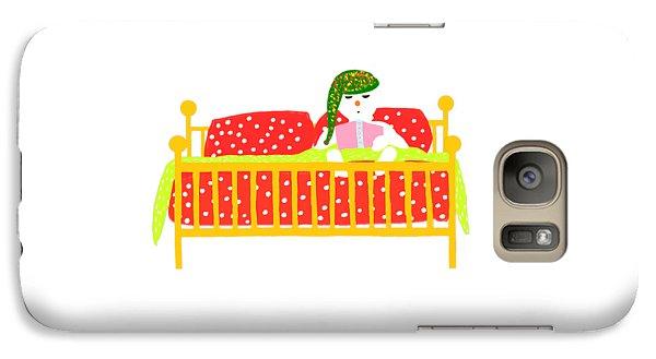 Galaxy Case featuring the digital art Snowman Bedtime by Barbara Moignard