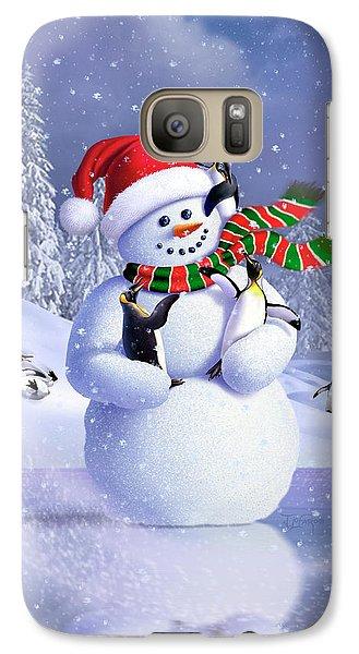 Penguin Galaxy S7 Case - Snowman by Jerry LoFaro